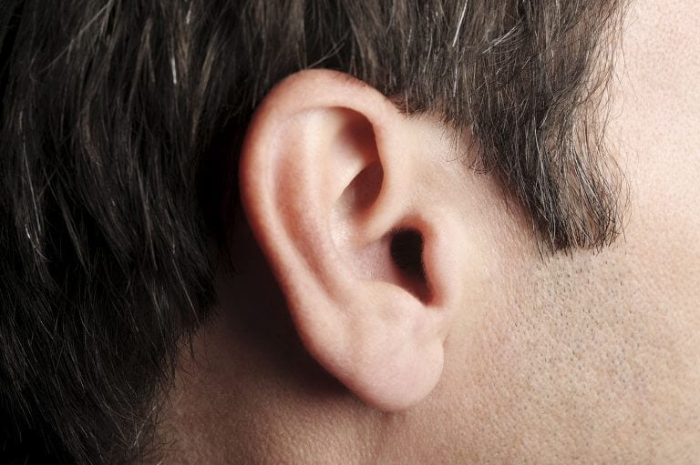 Close up of a man's ear