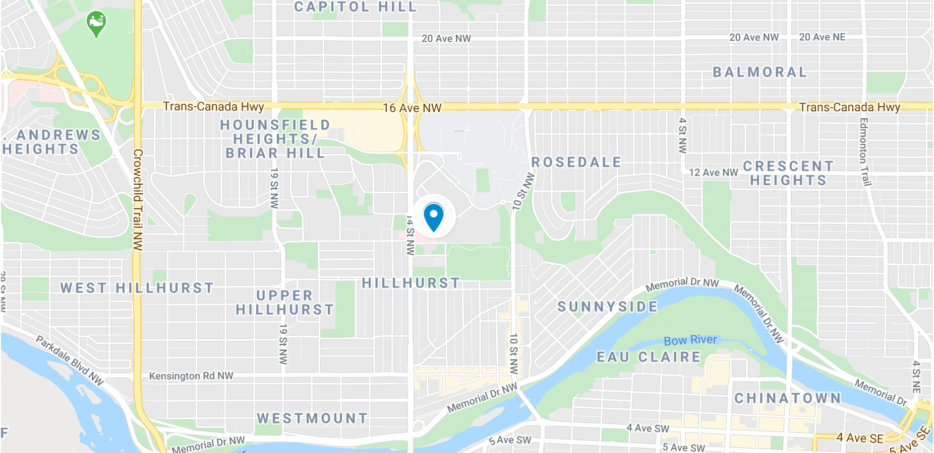 map Clearpoint Calgary